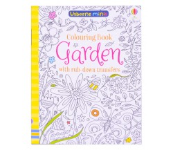 Usborne Minis - Garden colouring book with rub-down transfers