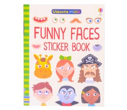 Usborne Minis - Funny faces sticker book