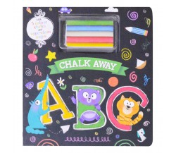 Chalk Away: ABC Board Book - With 5 Colour Chalks and Wipe-Clean Pages