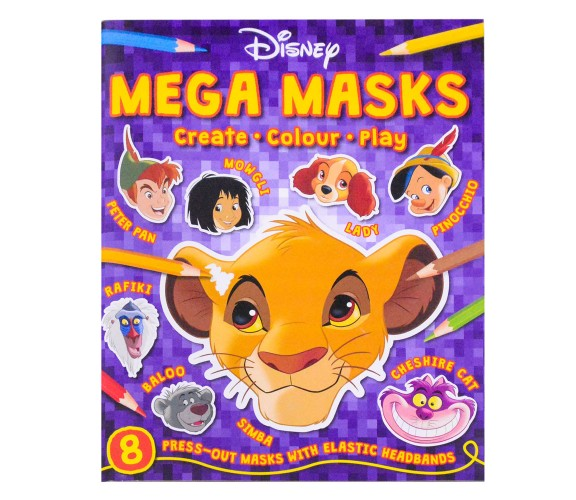 Disney Classics : Mega Masks - 8 press-out masks with elastic headbands