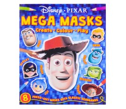 Disney Pixar : Mega Masks - 8 press-out masks with elastic headbands