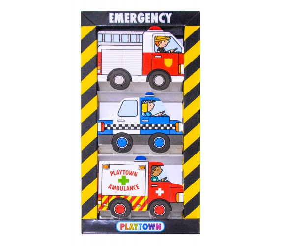 Playtown : Emergency Chunky Set - 3 Board Books