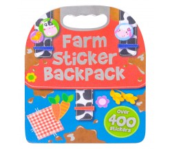 Farm Sticker Backpack - Over 400 Stickers