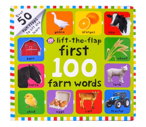 Lift-The-Flap First 100 Farm Words Board Book