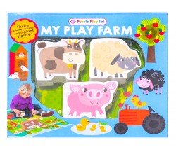My Play Farm Puzzle Play Set - 3 Chunky Books and Giant Jigsaw