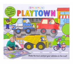 Playtown Puzzle Play Set - 3 Chunky Books and Giant Jigsaw