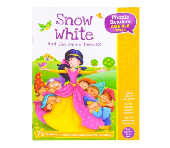 Snow White and the Seven Dwarfs - LV2 Phonic Readers Age 4-6
