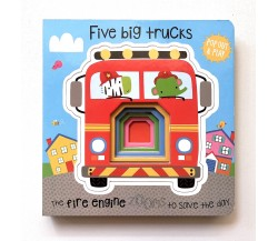 Pop Out and Play: Five Big Trucks Board Book