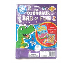 My Dinosaur Bag of Fun with Colouring Book, Crayons and Stickers