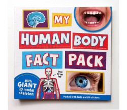 My Human Body Fact Pack - With Giant 3D Model Skeleton