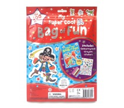 My Super Cool Bag of Fun with Colouring Book, Crayons and Stickers