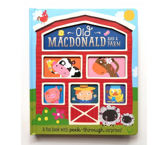 Old Macdonald Had a Farm Board Book with Peek-Through Surprises
