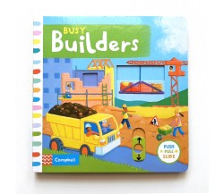 Campbell - Busy Builders - Push, Pull, Slide Book