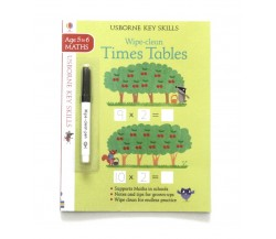 Usborne - Wipe-clean times tables 5-6 (Tabel Perkalian)