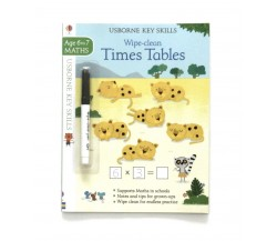 Usborne - Wipe-clean times tables 6-7 (Tabel Perkalian)