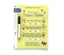 Usborne - Wipe-clean times tables 7-8 (Tabel Perkalian)