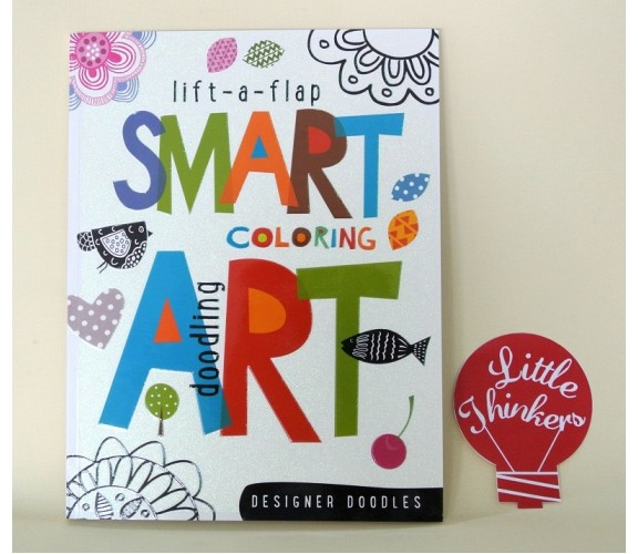 Lift-the-flap Coloring and Doodling Smart Art