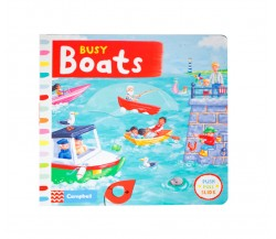 Campbell - Busy Boats - Push, Pull, Slide Book