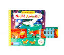 Campbell - First Explorers : Night Animals - Push, Pull, Slide Book