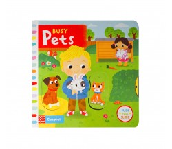 Campbell - Busy Pets - Push, Pull, Slide Book
