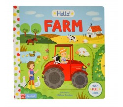Campbell - Hello! Farm - Push, Pull, Slide Book