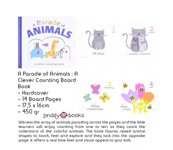 A Parade of Animals : A Clever Counting Board Book Buku