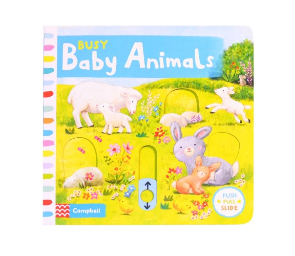 Campbell - Busy Baby Animals - Push, Pull, Slide Book
