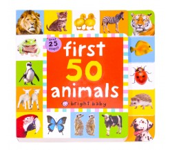 Priddy - Lift The Flap Tab First 50 Animals Board Book