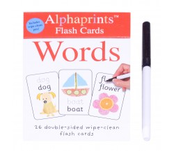Alphaprints: Wipe Clean Board Flash Cards Words with Pen