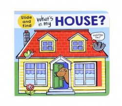What's In My House? Slide and Find board book with Flaps