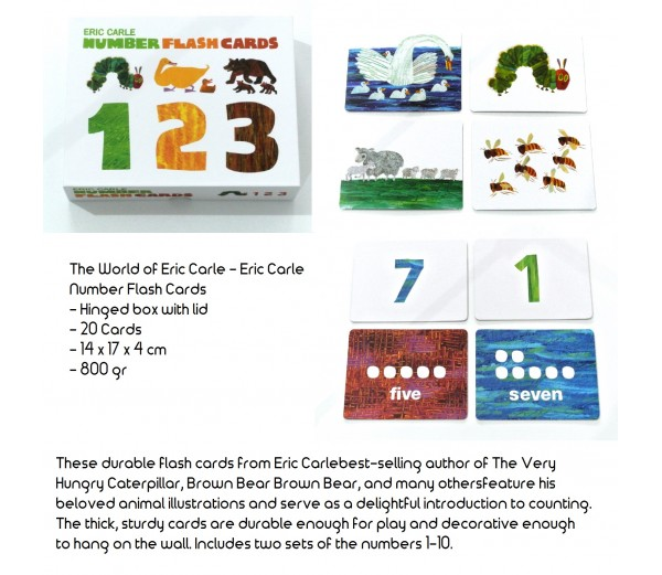 The World Of Eric Carle Eric Carle Number Flash Cards