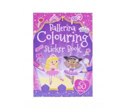 Ballerina Colouring Sticker Book with over 50 stickers