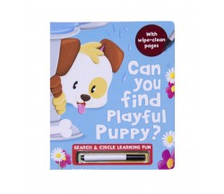 Can You Find Playful Puppy with Wipe-Clean Pages