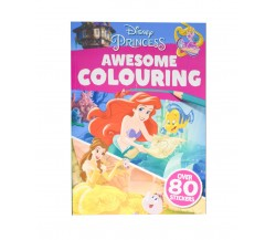 Disney PRINCESS: Awesome Colouring - With over 80 stickers