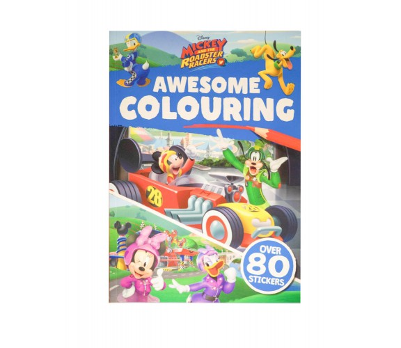 Disney Mickey and the Roadster Racers: Awesome Colouring - With over 80 stickers