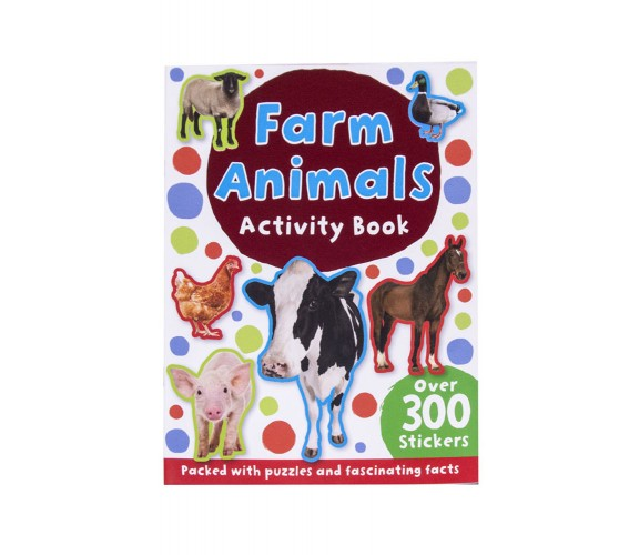 Farm Animals Activity Book with over 300 stickers
