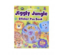 Wobbly Eyes Jiggly Jungle Sticker Fun Book with over 250 stickers
