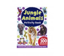 Jungle Animals Activity Book with over 300 stickers
