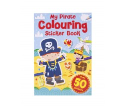 Pirate Colouring Sticker Book with over 50 stickers