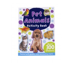 Pet Animals Activity Book with over 300 stickers