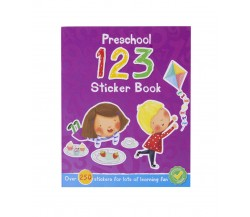 Preschool 123 Sticker Book with over 250 Stickers