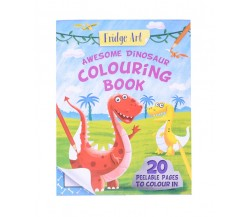 Fridge Art Awesome Dinosaurs Colouring Book - 20 Peelable Pages to Colour in