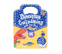 Dinosaur Colouring Find and Stick - find the dino stickers to finish the scenes