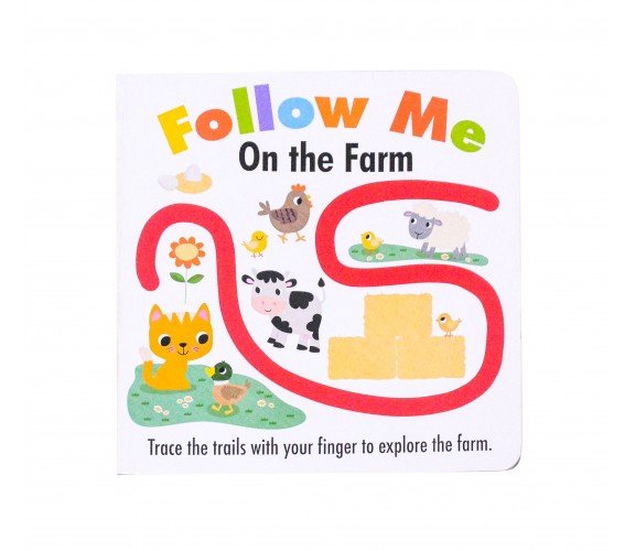 Follow Me On the Farm - Trace the trails with your finger to explore the farm