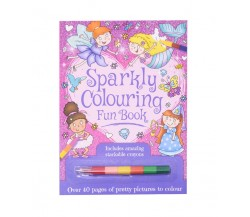 Sparkly Colouring Fun Book - Includes amazing stackable crayons