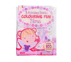 Fairies Colouring Fun with 3 Amazing Books and Over 100 Stickers + Colouring Pencils