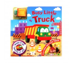Busy Little Truck Board Book With Fold-Out Play Track And Wind-Up Toy