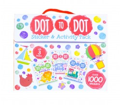 Dot-to-Dot Sticker and Activity Pack with 3 Books and Over 1000 Stickers