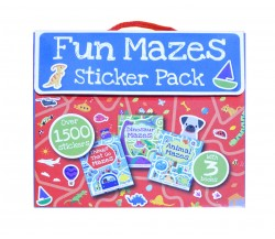 Fun Mazes Sticker Pack with 3 Books and Over 1500 Stickers