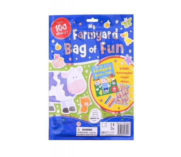 My Farmyard Bag of Fun with Colouring Book, Crayons and Stickers